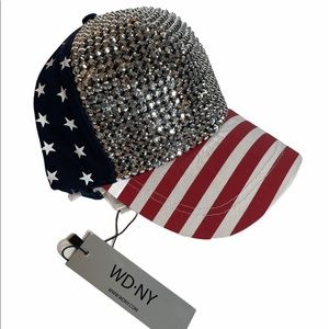 WD-NY Patriotic Sparkle Baseball Cap Adjustable